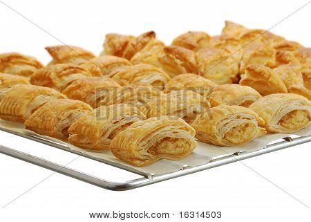 Baking Grid With Fresh Baked Bourekas