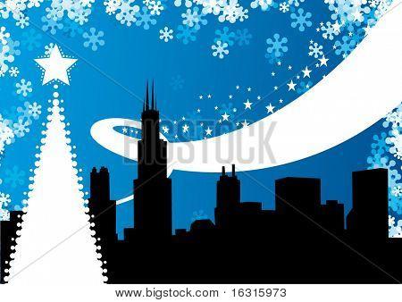 Chicago winter background