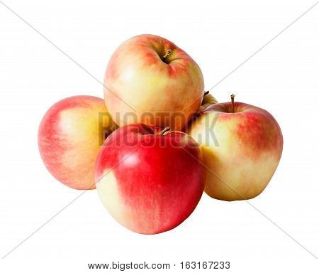 Fresh ripe apples isolated on white background