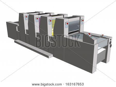 Printing Press Cmyk