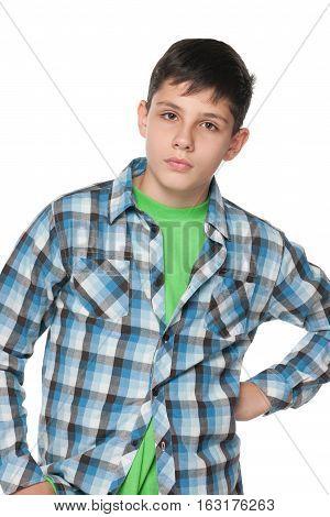 Portrait Of An Upset Teen Boy