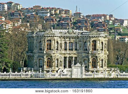Kucuksu Kasri (Sultans mansion) in Instanbul, Turkey