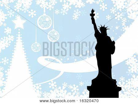 NY winter background