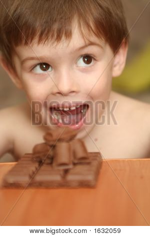 Emotions Of The Boy And Chocolate