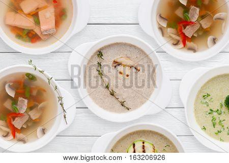 Food Soup Assortment Hot Restaurant Dish Lunch Dinner Worldwide Cuisine Buffet Concept