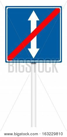 Informative Traffic Sign - The End Of Reverse Movement