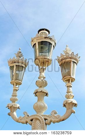 Old lantern in Dolmabahce palace, Istanbul, Turkey