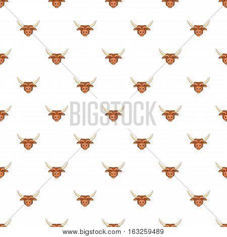Bull head pattern. Cartoon illustration of bull head vector pattern for web