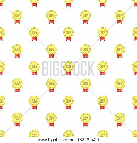 Label premium quality best offer pattern. Cartoon illustration of label premium quality best offer vector pattern for web