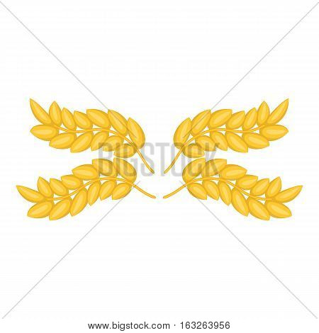 Ears pattern icon. Cartoon illustration of ears pattern vector icon for web design
