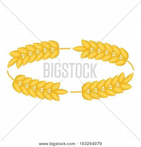 Ripe wheat ears icon. Cartoon illustration of ripe wheat ears vector icon for web design