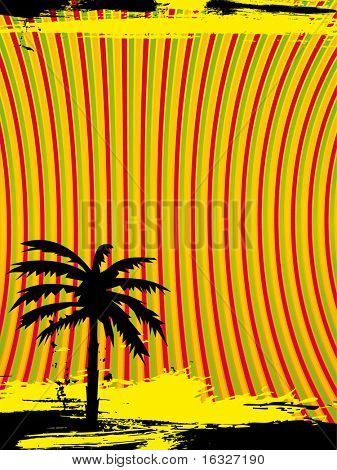 retro vector palm tree background