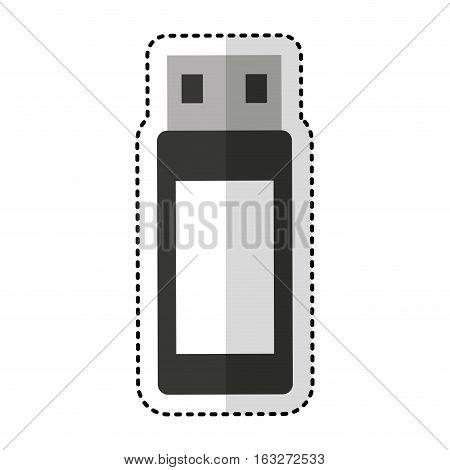 usb memory flash icon vector illustration design