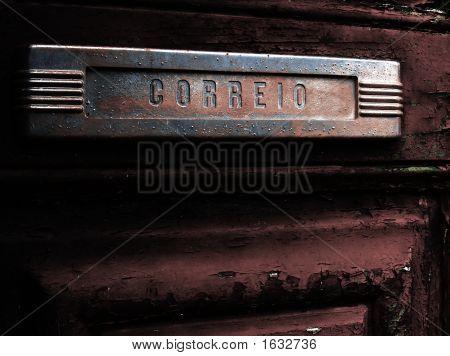 Old Mail Slot In Old Door