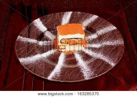 dessert, plate, delicious, hearty, beautifully, airy, cake, POWDERED, SUGAR, HOLIDAY, BIRTHDAY