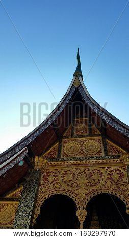 Wat Xieng Thong Buddhist temple in Luang Prabang World Heritage Laos