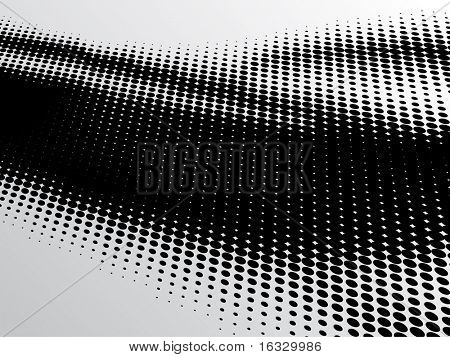 vector dotted black and white background