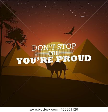 Motivational Poster With Nature Background