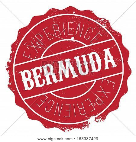 Bermuda stamp. Grunge design with dust scratches. Effects can be easily removed for a clean, crisp look. Color is easily changed.