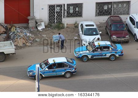 Street scene of life in Pointe-Noire, Congo Republic, february 2015