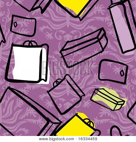 Vector Seamless gift pattern. Purple background