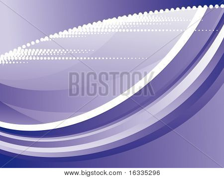 Vector blue wave background  with dot elements