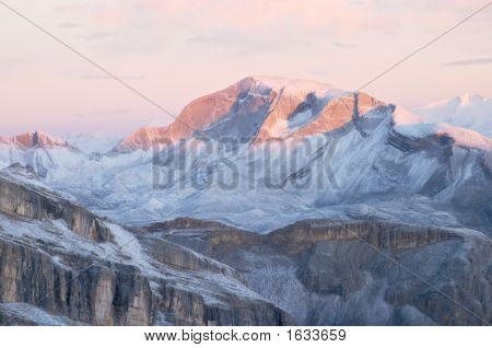 Sunrise In Dolomites