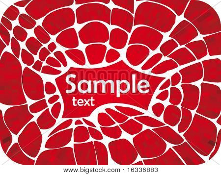Vector red shine illustration with white web