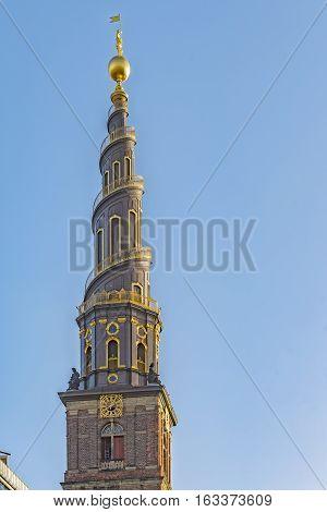 Vor Frelsers Kirke. Church of Our Saviour in Copenhagen Denmark.