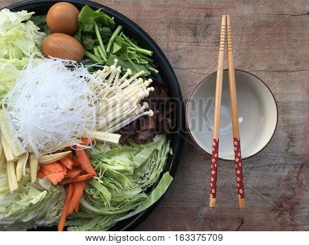 super fresh vegetable healthy foods diet on background wooden