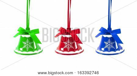 Christmas Jingle Bells On A White Background New Year