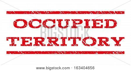 Occupied Territory watermark stamp. Text tag between horizontal parallel lines with grunge design style. Rubber seal stamp with unclean texture.