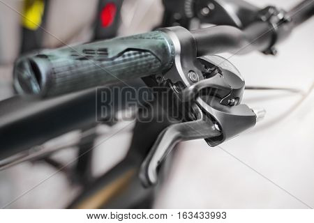 Grip of bicycle handle bar and gear shifter.
