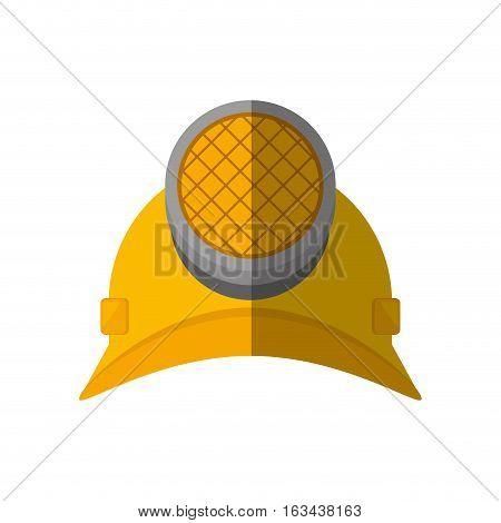 cartoon helmet mining light protection vector illustration eps 10