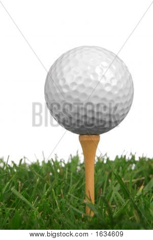 Bola de golfe close-up