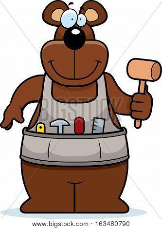 Cartoon Woodworking Bear