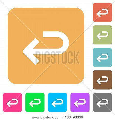Back arrow icons on rounded square vivid color backgrounds.