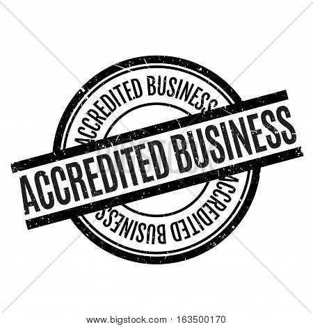 Accredited Business rubber stamp. Grunge design with dust scratches. Effects can be easily removed for a clean, crisp look. Color is easily changed.