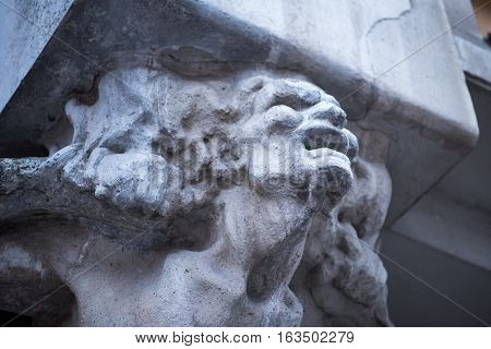 old architectural element of the Statute as a woman