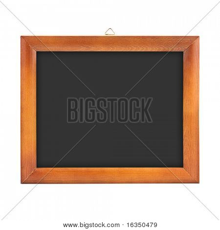 horizontal wood frame isolated