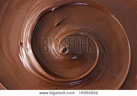 black chocolate swirl close up