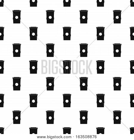 Plastic trash can pattern. Simple illustration of plastic trash can vector pattern for web