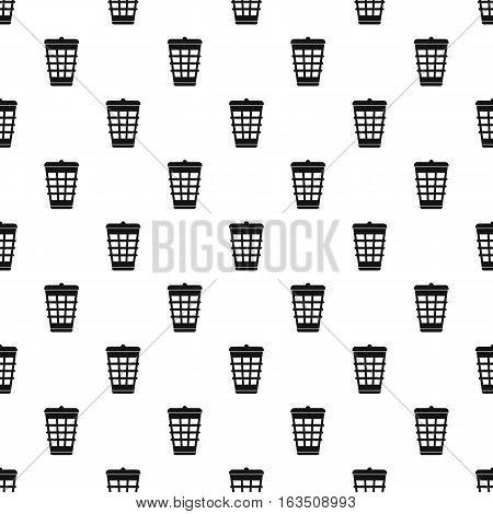 Dustbin for garbage pattern. Simple illustration of dustbin for garbage vector pattern for web