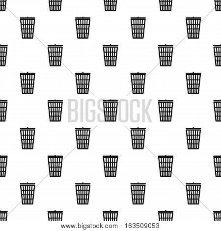 Trash basket pattern. Simple illustration of trash basket vector pattern for web