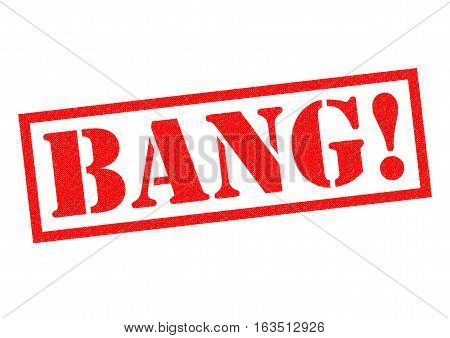 BANG! red Rubber Stamp over a white background.