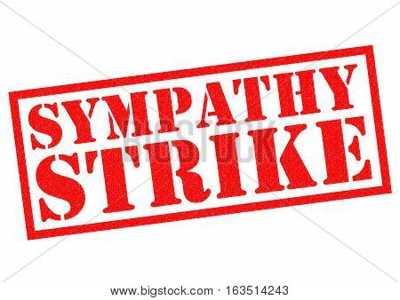 SYMPATHY STRIKE red Rubber Stamp over a white background.