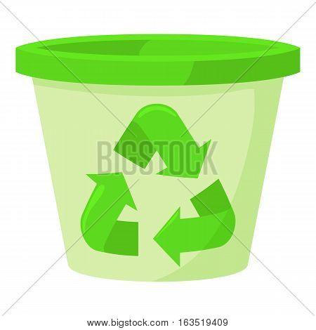Plastic jar icon. Cartoon illustration of plastic jar vector icon for web