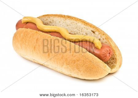 hotdog isolated on white background