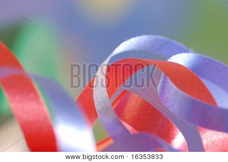ribbon details with selective focus and blurred background