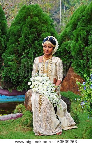 COLOMBO, SRI LANKA - FEBRUARY 19, 2014: Typically Sri Lankans marry later than people in other Asian countries. Today the average age of marriage is 25 years old in Sri Lanka on February 19 2014 in Colombo, Sri Lanka